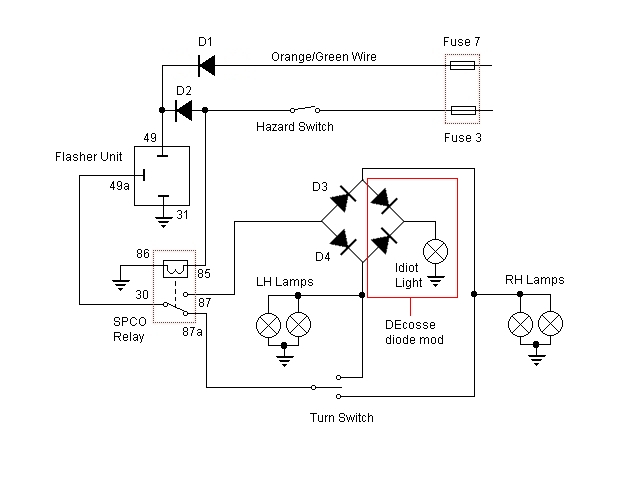 flasher relay wiring diagram flashers and hazards