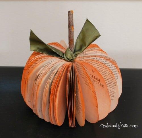 Book Page Pumpkin Tutorial