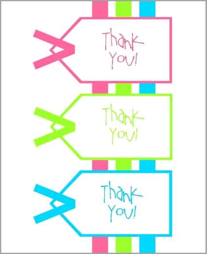 Printable thank you notes for teacher gifts - printable thank you note