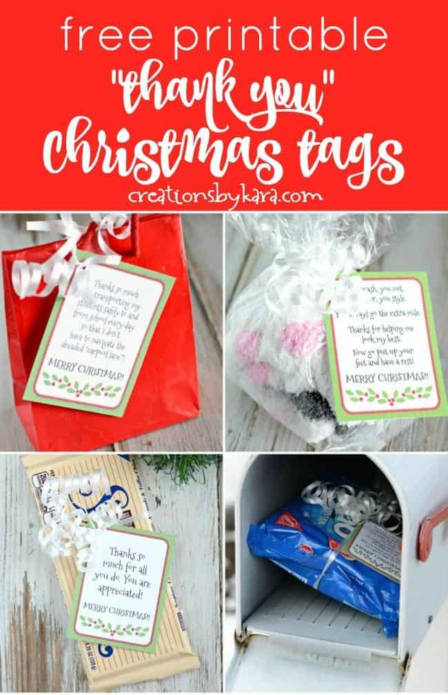 Free Printable Gratitude Christmas Gift Tags - Light the World