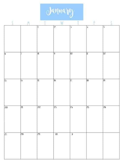 Free Printable 2019 Calendar - Creations by Kara