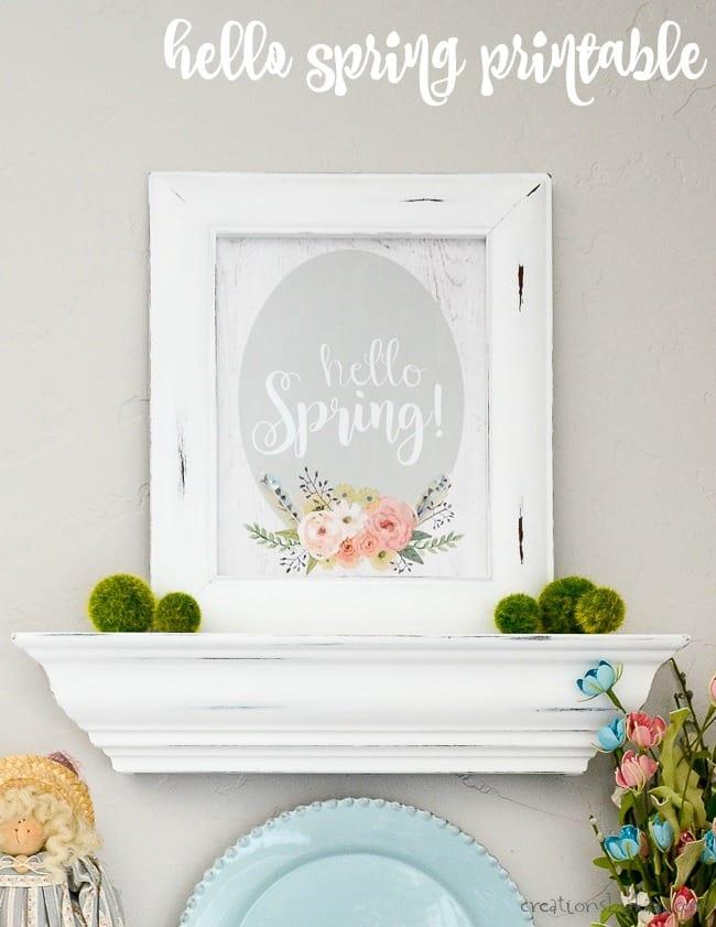 Hello Spring Printable - Creations by Kara