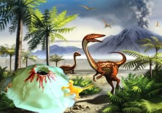 disparitia dinozaurilor din cauza unei eruptii vulcanice - experiment stiintific pentru copii