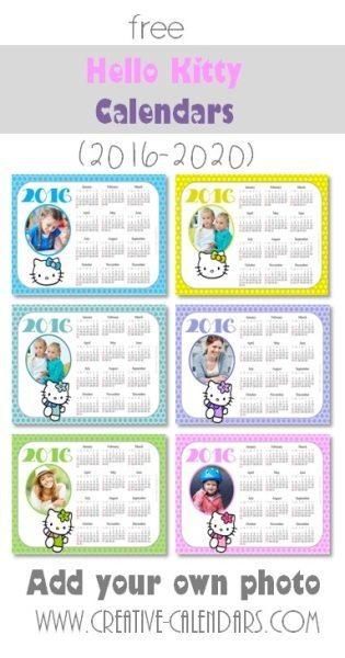 Hello Kitty Photo Calendars