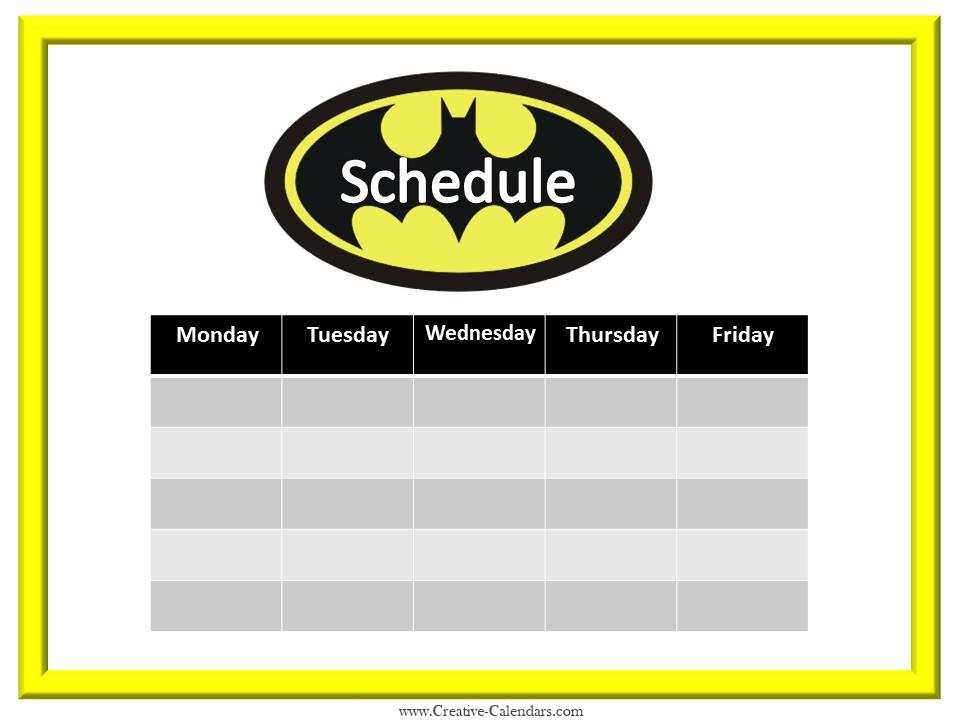 week schedule maker