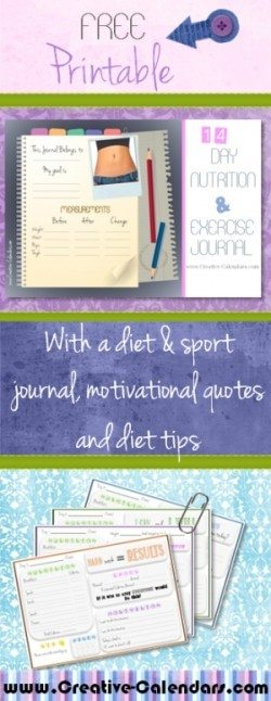Diet Journal - Free Fitness Journal Printable