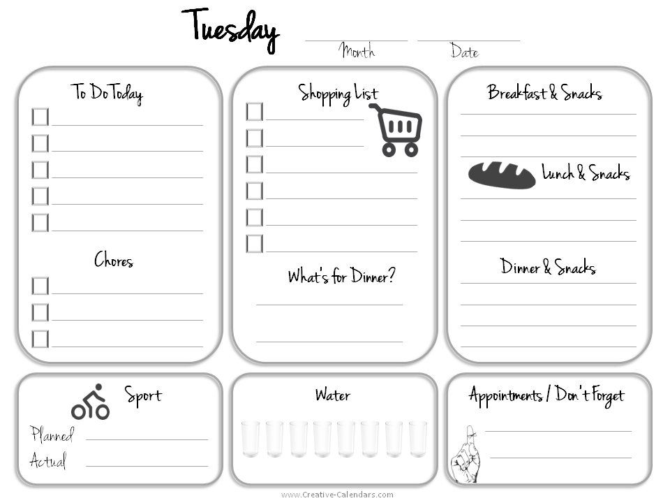 Daily Planner Template - daily planner sheets