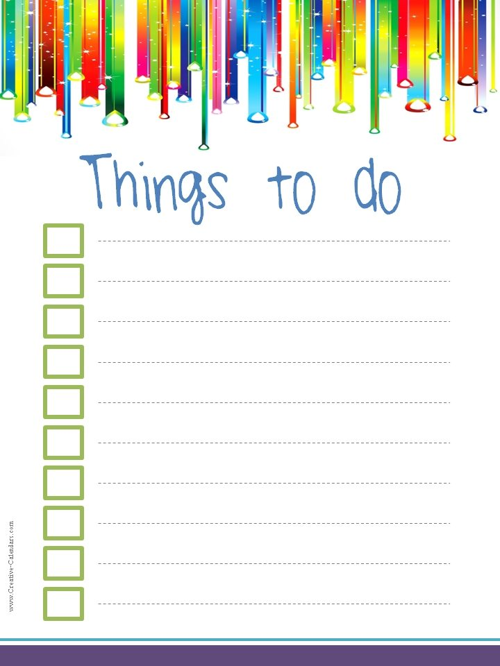 To Do List Template - to do checklist template