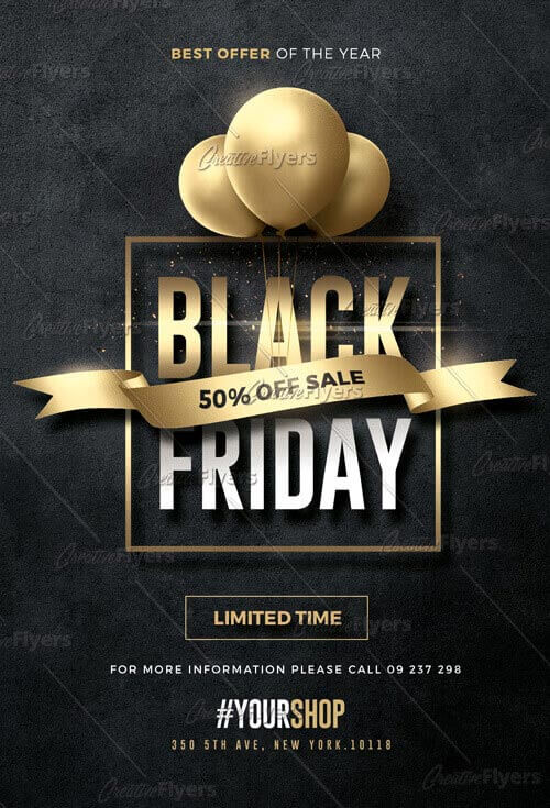 Black Friday Flyer Download Psd Templates - CreativeFlyers