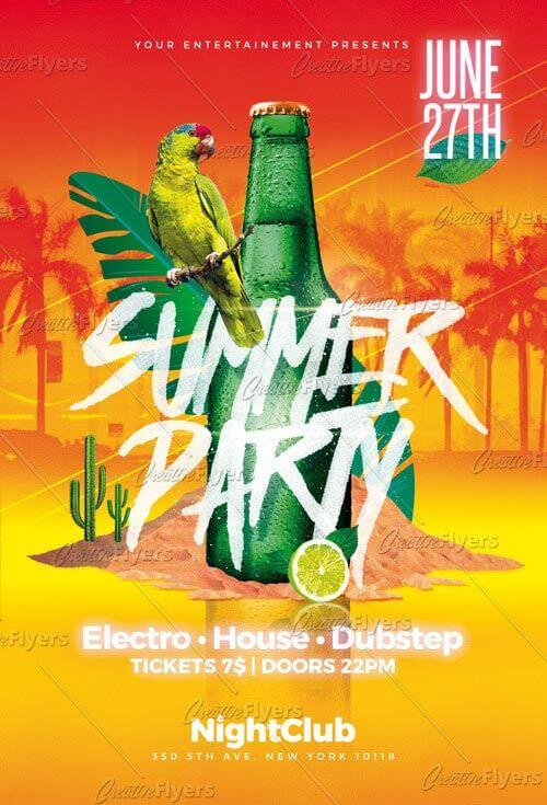 Summer Flyer Download Psd Templates ~ Creative Flyers