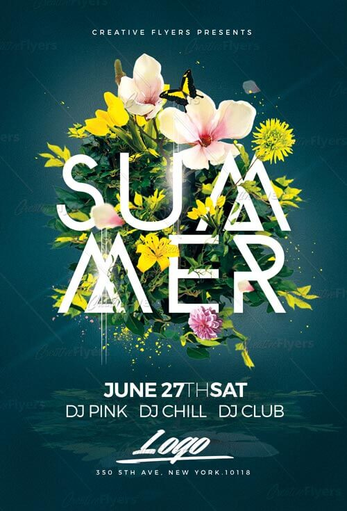 Summer Flyers Psd Templates from CreativeFlyers