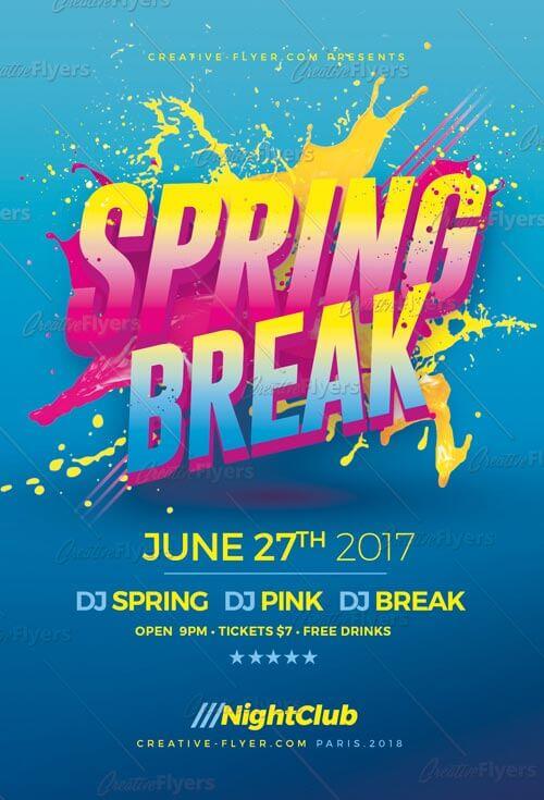 Spring Break Psd Flyer Template - Creative Flyers - spring flyer template