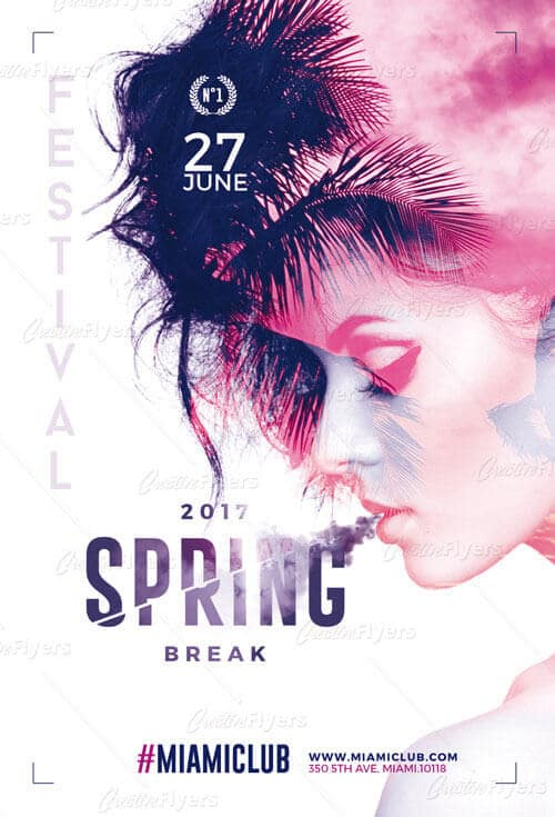 Download and Edit Spring Break Psd Templates ~ Creative Flyers - spring flyer template