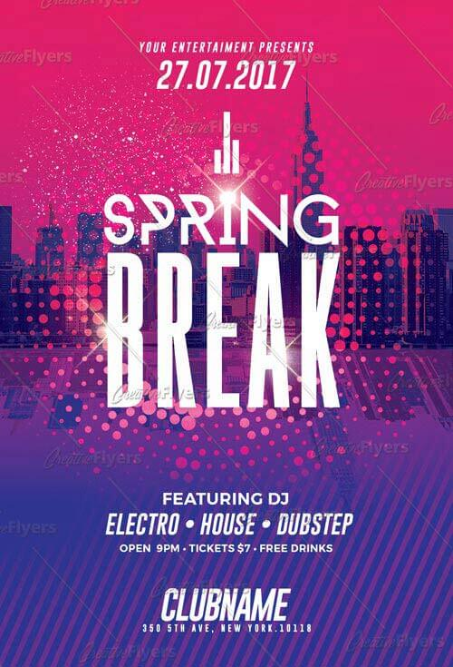 Download Spring Break Party Psd Templates - Creative Flyers - spring flyer template