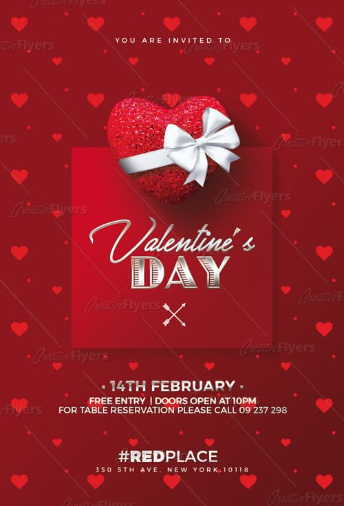 Download PSD Valentine\u0027s Day Flyer Template ~ Creative Flyers