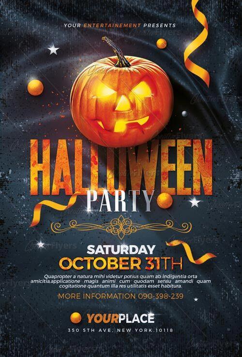 Event Flyer Templates Halloween Flyers PSD - Creative Flyers