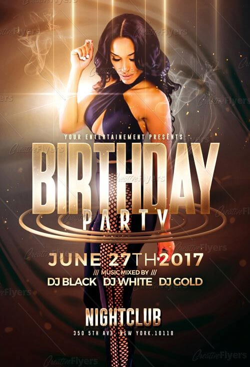 Birthday Party Flyer Psd Templates - Creative Flyers