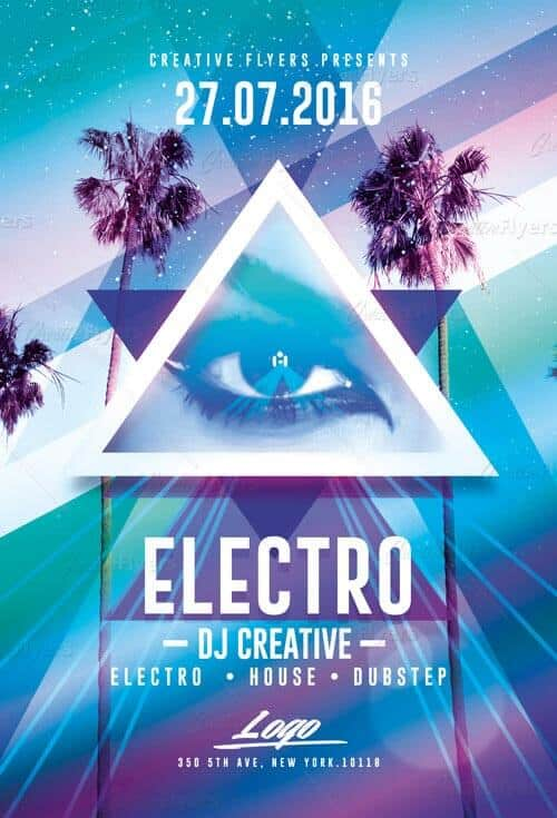 Electro Party Flyer Download Psd Templates - Creative Flyers - electro flyer