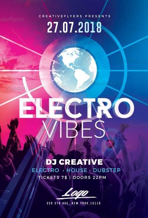 Electro Flyers Psd Flyer Templates ~ CreativeFlyers - electro flyer