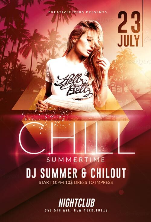 Summer Party Download Flyer PSD Templates ~ Creative Flyers