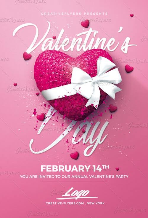 Best Flyer Valentine\u0027s Day Psd Template - Creative Flyers