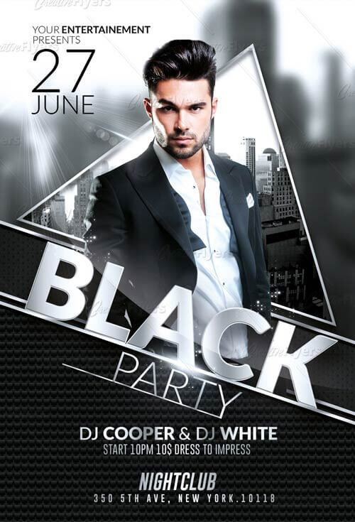 Club Party Flyer Psd Templates for Print - Creative Flyers