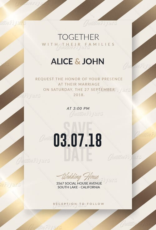 Customize Wedding Templates Psd Invitation ~ Creative Flyers - wedding flyer