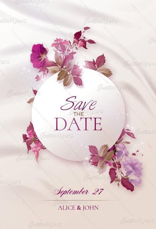 Creative Wedding Invitation Flyer Psd CreativeFlyers - wedding flyer
