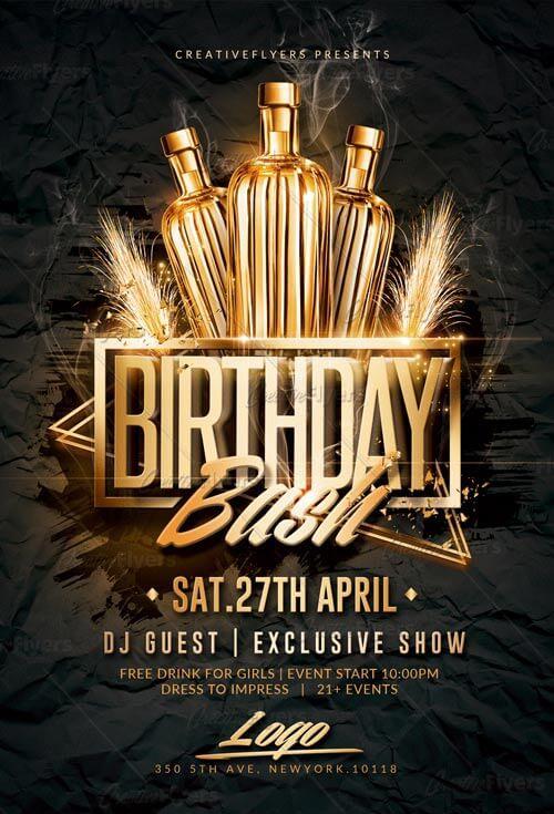 Birthday Bash Flyer Psd Templates - CreativeFlyers