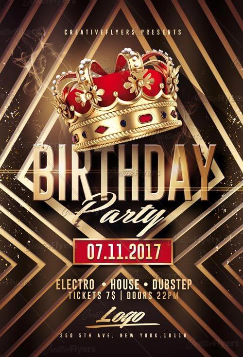 Birthday Party Flyer PSD Templates ~ CreativeFlyers