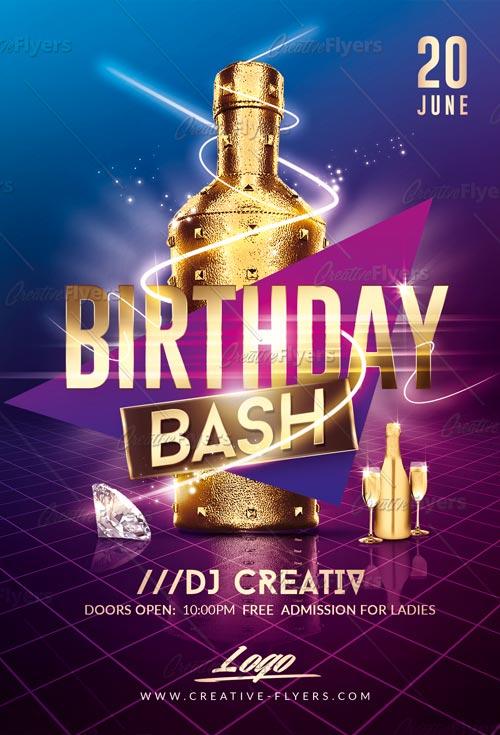 Birthday Bash Flyer PSD Templates - Creative Flyers