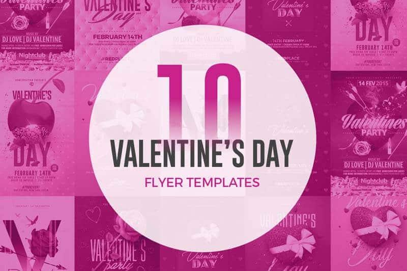 10 Trendy Valentine\u0027s Day Flyer Templates - CreativeFlyers