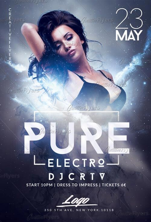 Electro Party Flyer PSD Templates - Creative Flyers