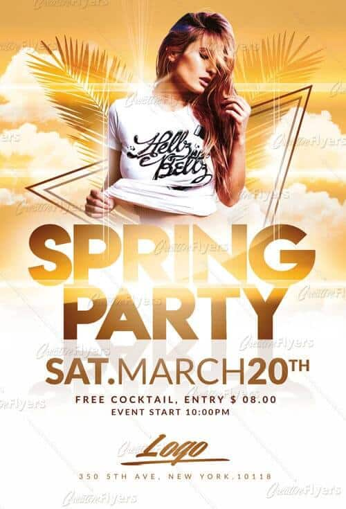 Download Spring Party Flyer Templates - Creative Flyers