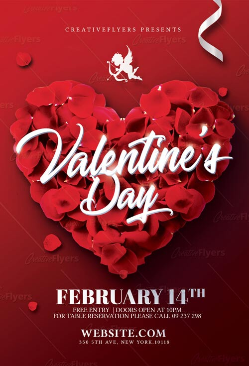 Download Valentines Day Flyer Template - Creative Flyers