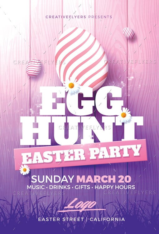 Easter Party Flyer Psd Templates - Creative Flyers