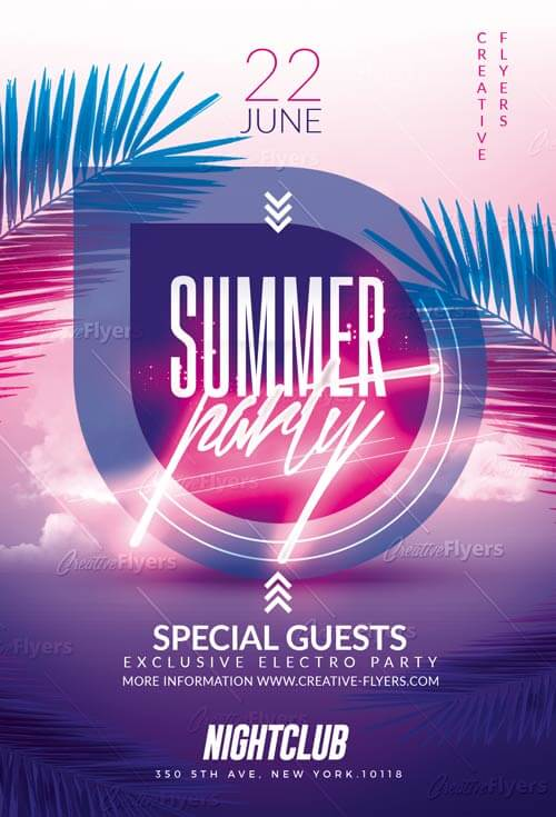 Summer Party Flyer Templates PSD - Creative Flyers - party flyer