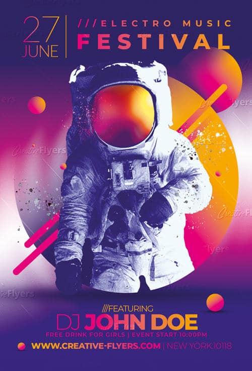 Photoshop Music Festival Flyer Psd Template - CreativeFlyers
