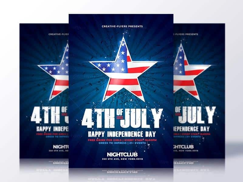 Independence Day 4th of july Flyers PSD - CreativeFlyers - independence day flyer