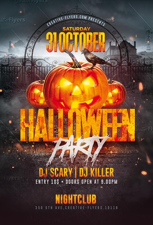 Download Halloween Party Flyer Templates PSD - Creative Flyers