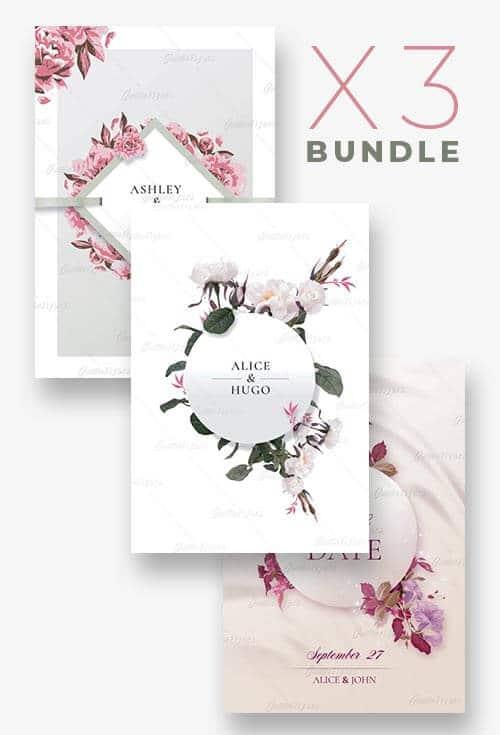 x3 Wedding Flyer Templates Bundle - Creativeflyers