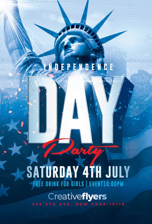 Independence Day Flyer Template - CreativeFlyers