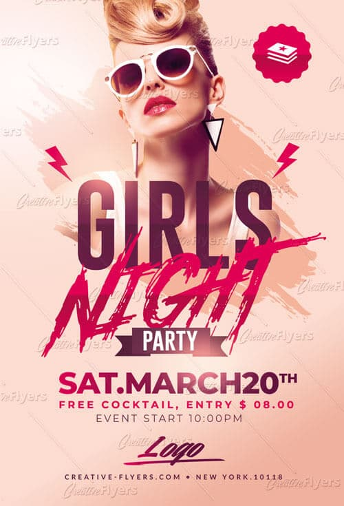 Girls Night Party Flyer Psd Template - Creative Flyers