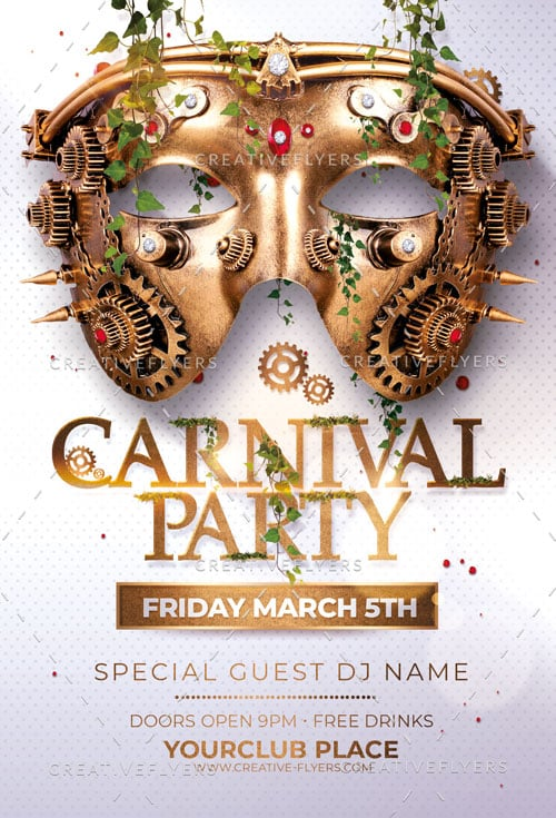 Carnival Party Flyer Template PSD - Creative Flyers