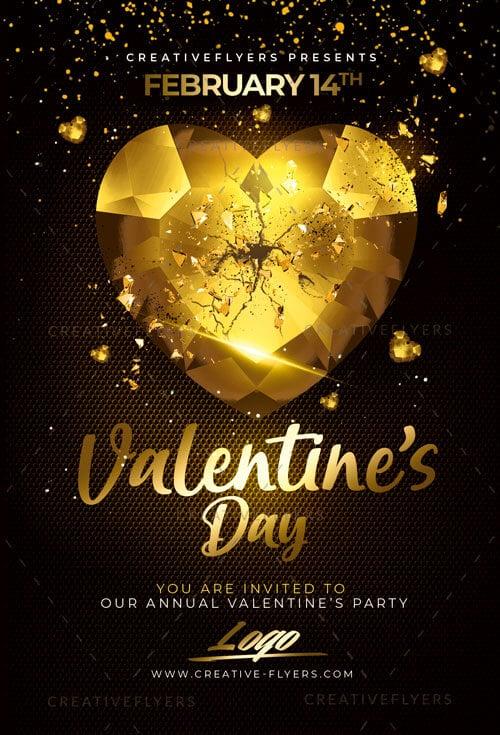 Classy Valentine\u0027s day flyer template - Creative Flyers