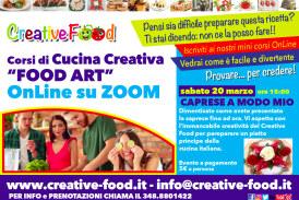 """Caprese a modo mio – Laboratorio di CUCINA CREATIVA """"Food Art"""" per ADULTI – OnLine su Zoom"""