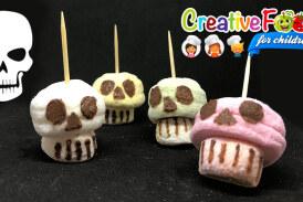 Teschio con marshmallow skull