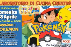 """Arrivano i POKEMON!! – Laboratorio di CUCINA CREATIVA """"Food Art"""" per bambini – OnLine su Zoom"""