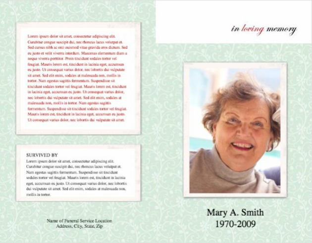 Funeral Program Background Images Customize 3,999+ Farewell Party