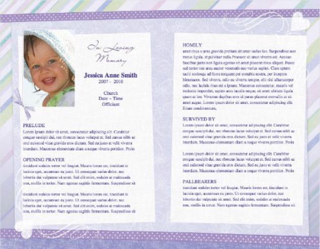 Child Funeral Program